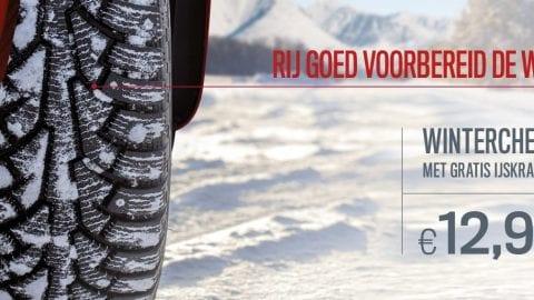 Afbeelding voor Actie: Wintercheck voor slechts   € 12,95 met gratis ijskrabber