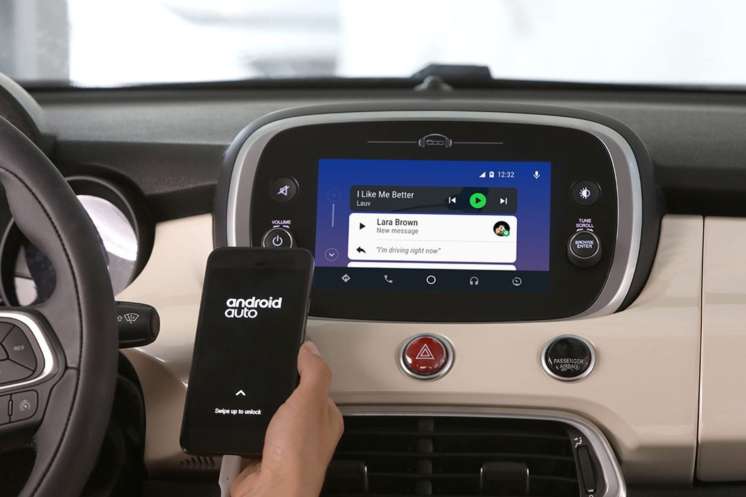 Fiat 500X interieur android auto