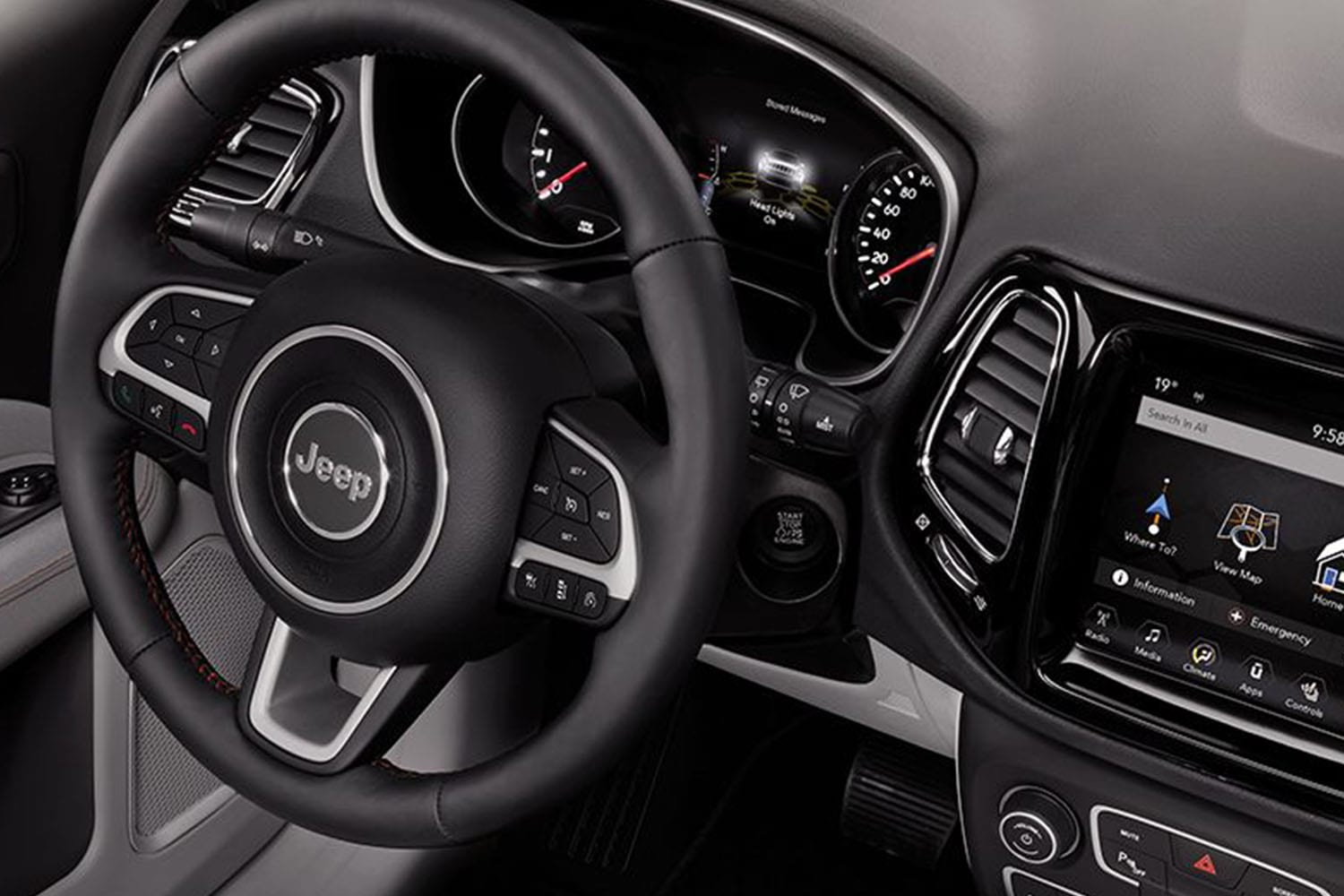 Jeep Compass interieur